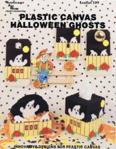 Plastic Canvas Halloween Ghosts