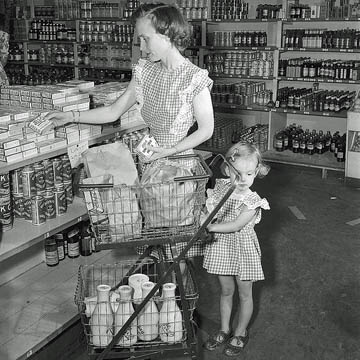Shopping Cart at Donna's General Store