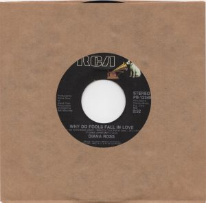 Why Do Fools Fall In Love + Think I'm In Love - plain sleeve