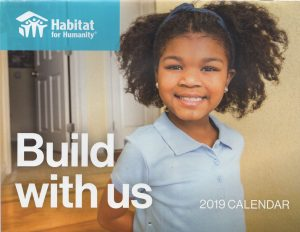 2019 Calendar - Habitat for Humanity