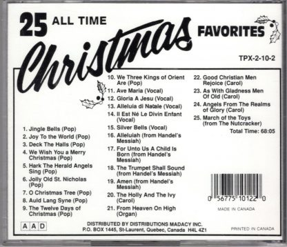 25 All Time Christmas Favorites (back)