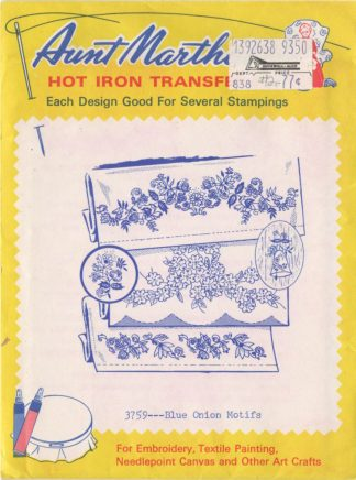 Aunt Martha's Hot Iron Transfers 3759 - Blue Onion Motifs