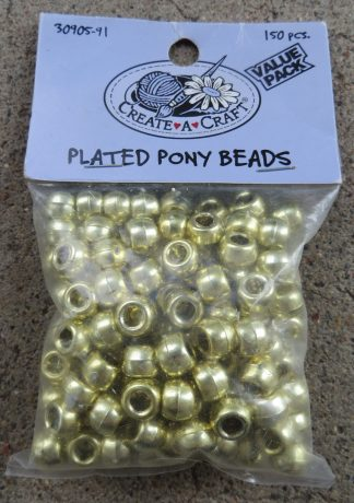 Gold Plated Pony Beads