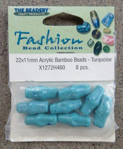 Turquoise Acrylic Bamboo Beads