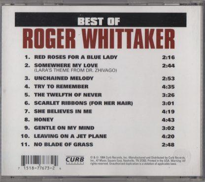 Best of Roger Whittaker - back