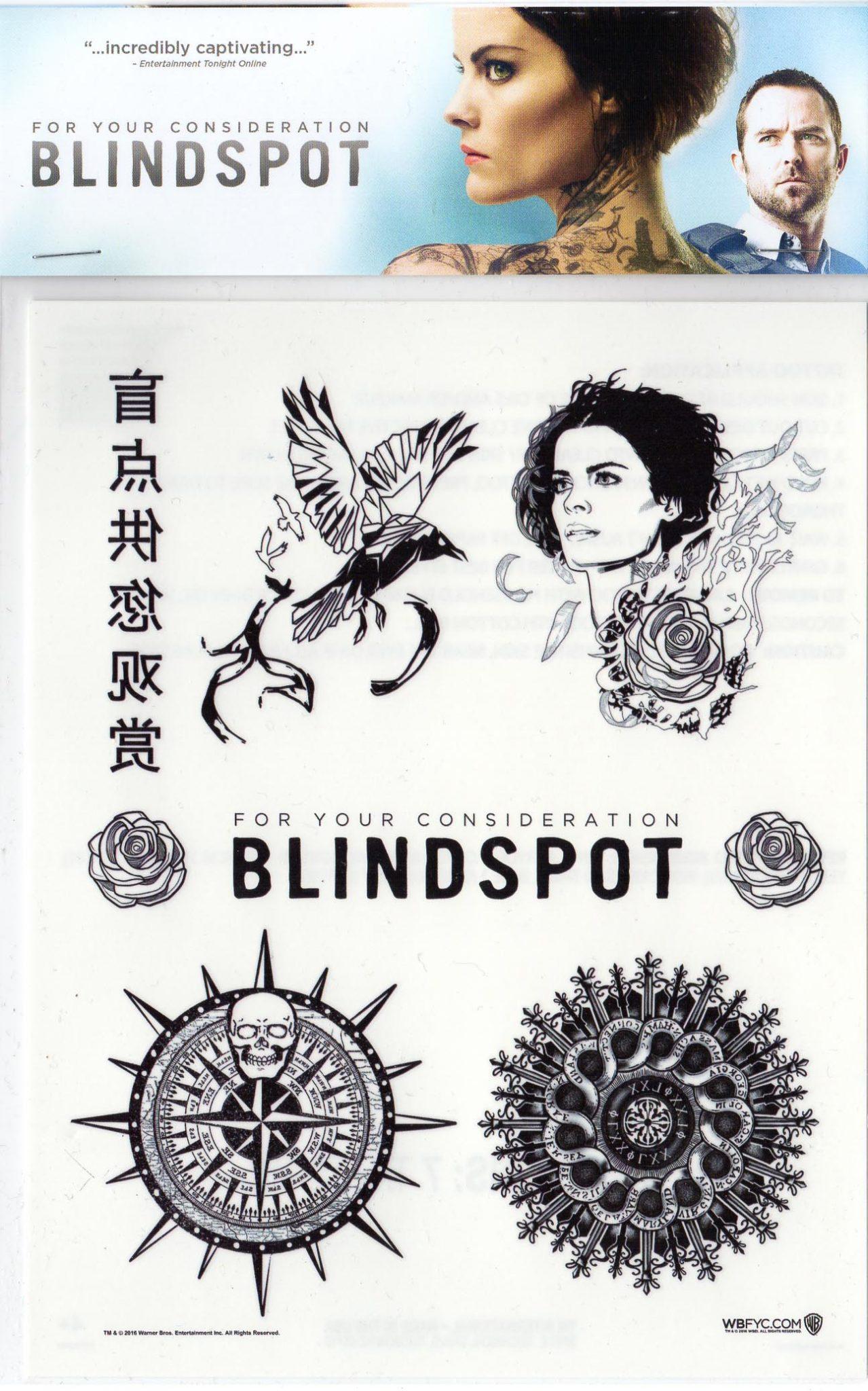 7 Blindspot Temporary Tattoos From Warner Bros At Sdcc