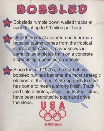 Bobsled Coin (back)
