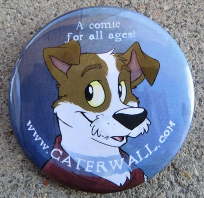 Caterwall Comics Dog Pin