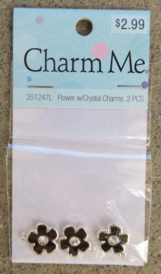 Charm Me 351247L - Flower with Crystal Charms