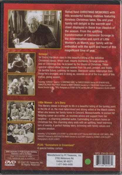 Christmas Memories DVD - back