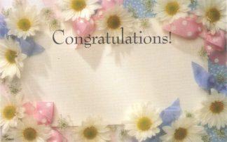 Congratulations - floral border