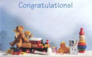 Congratulations! - train & teddy
