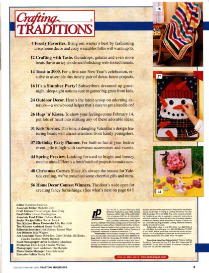 Crafting Traditions, Jan/Feb 2000 (contents)