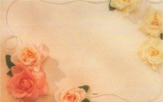 Floral Enclosure Card - pink & yellow roses