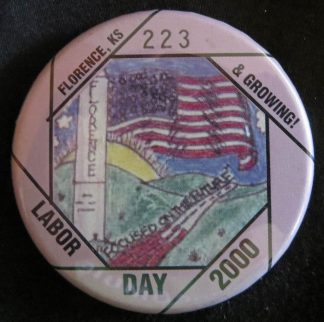 Florence, Kansas, Labor Day Button