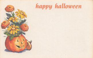 Happy Halloween - jack-o-lantern vase