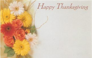 Happy Thanksgiving - flowers