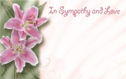 In Sympathy And Love