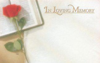 In Loving Memory - Bible & Rose