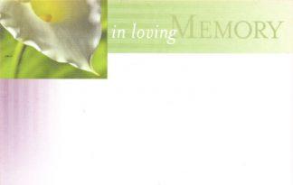 In Loving Memory - calla lily