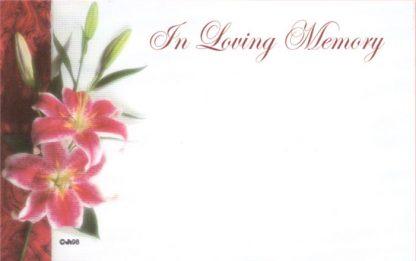 In Loving Memory - pink lilies