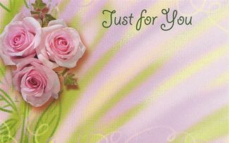 Just for You floral enclosure card