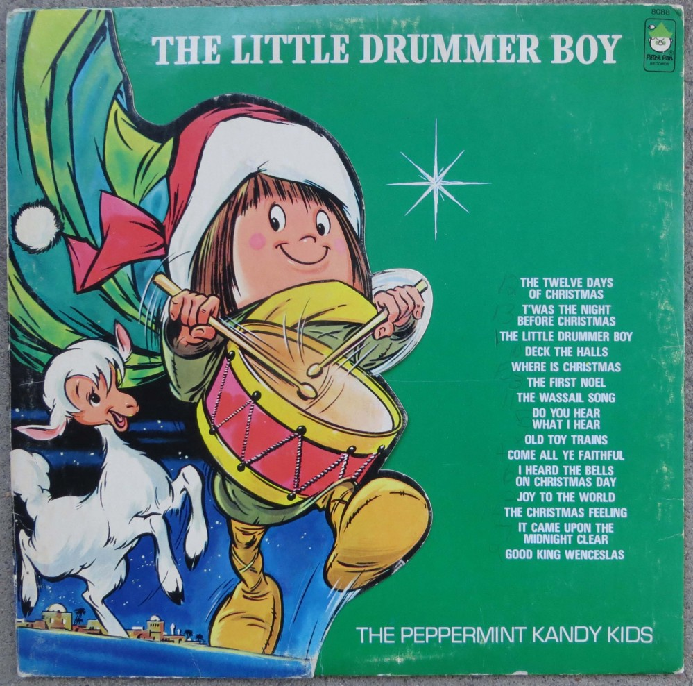Christmas Drummer Boy.The Little Drummer Boy The Peppermint Kandy Kids Peter Pan 8088 12 Lp