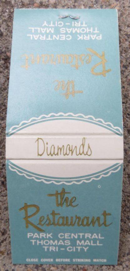 Matchbook for the Restaurant in Diamonds