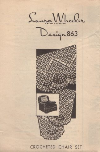Laura Wheeler Design 863 - Crocheted Chair Set