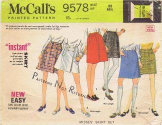 "McCall's 9578 - 22"" Waist"