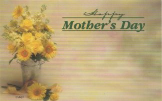 Happy Mother's Day - yellow & white