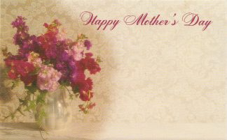 Happy Mother's Day - reds flowers in vase