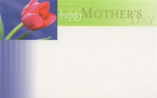 Happy Mother's Day - red tulip