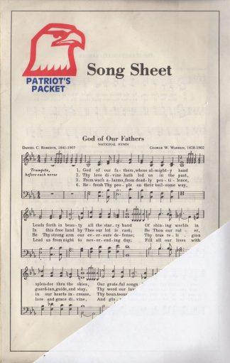 Patriot's Packet Song Sheet