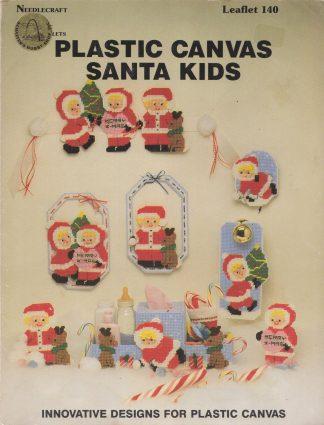Plastic Canvas Santa Kids