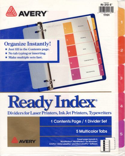 Ready Index Dividers