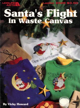 Santa's Flight In Waste Canvas