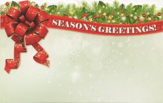 Season's Greetings - ribbon