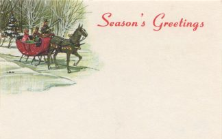 Season's Greetings - sleigh