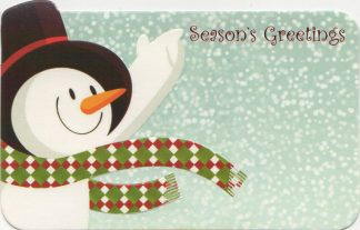 Season's Greetings - snowman