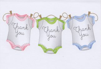 Thank You Note Cards for Baby Gift