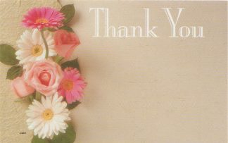 Thank You floral enclosure card