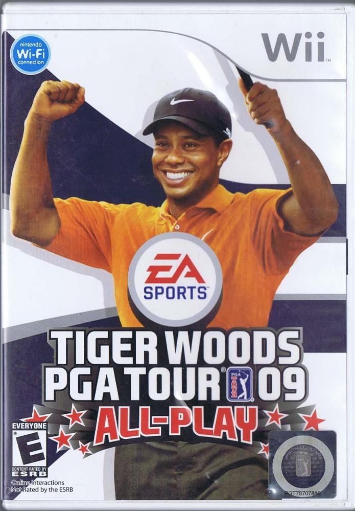 Tiger woods pga tour 09 wii game case & manual no game.