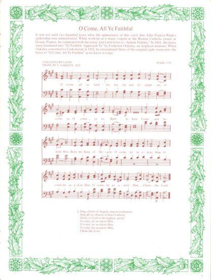 Treasured Christmas Carols (page)