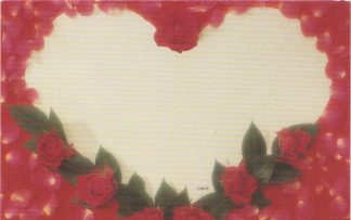 Valentine's Day floral enclosure card