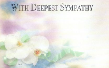 With Deepest Sympathy - white orchid