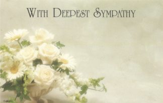 With Deepest Sympathy - white flowers