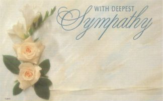 With Deepest Sympathy - white roses