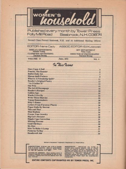 Woman's Household - June 1972 (contents)