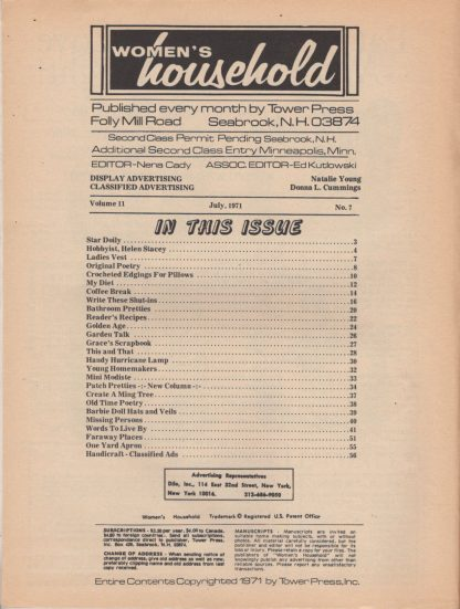 Woman's Household - July 1971 (contents)